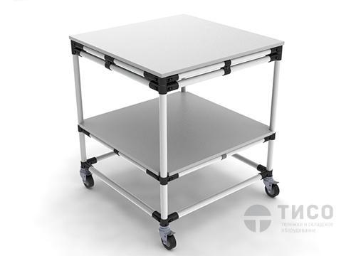 Двухъярусная модульная тележка-этажерка