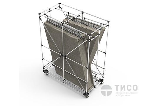 Производственная усиленная модульная тележка