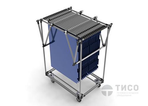Производственная модульная тележка с навесной конструкцией
