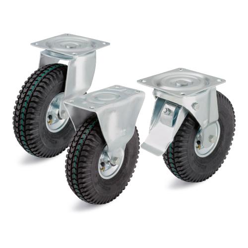 Колеса и ролики с пневматическими шинами