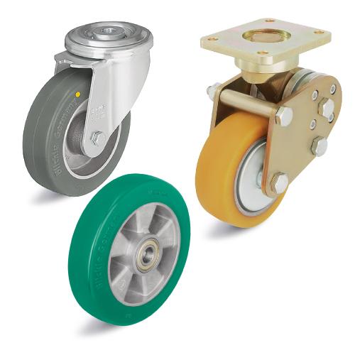 Большегрузные колеса и ролики