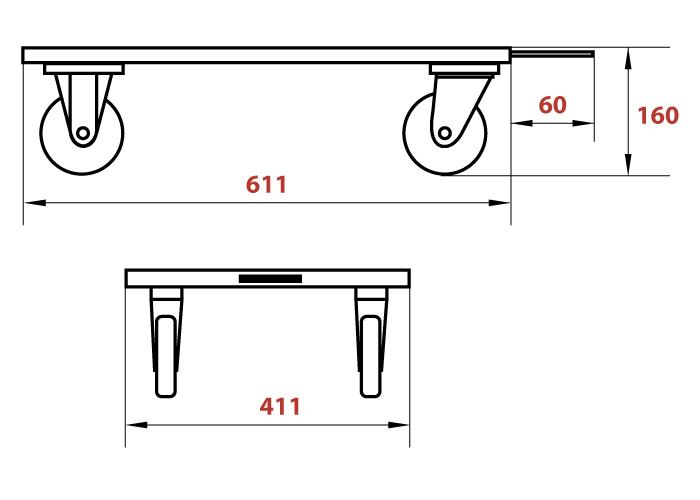Схема тележки для ящиков