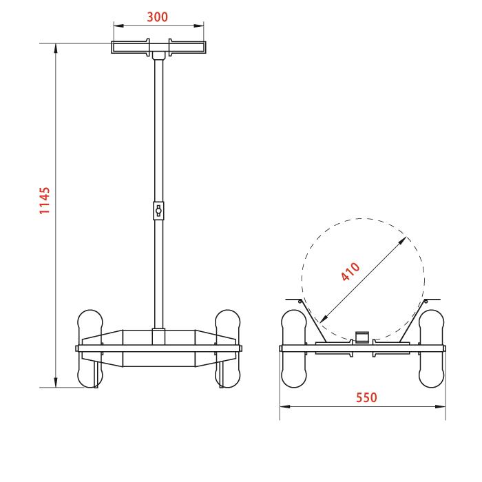 Схема тележки для перевозки кег